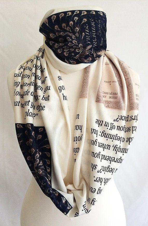 Book scarves Uk Edgar Allen Poe Literary Scarf Literary scarves UK,