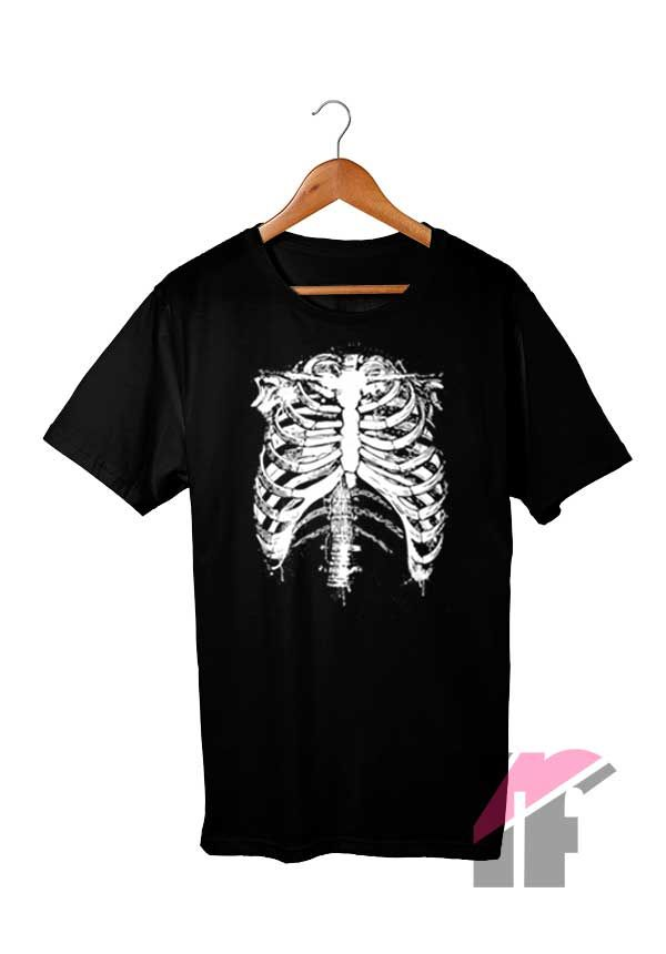 Spooky Rib Cage T Shirt #spookyoutfits