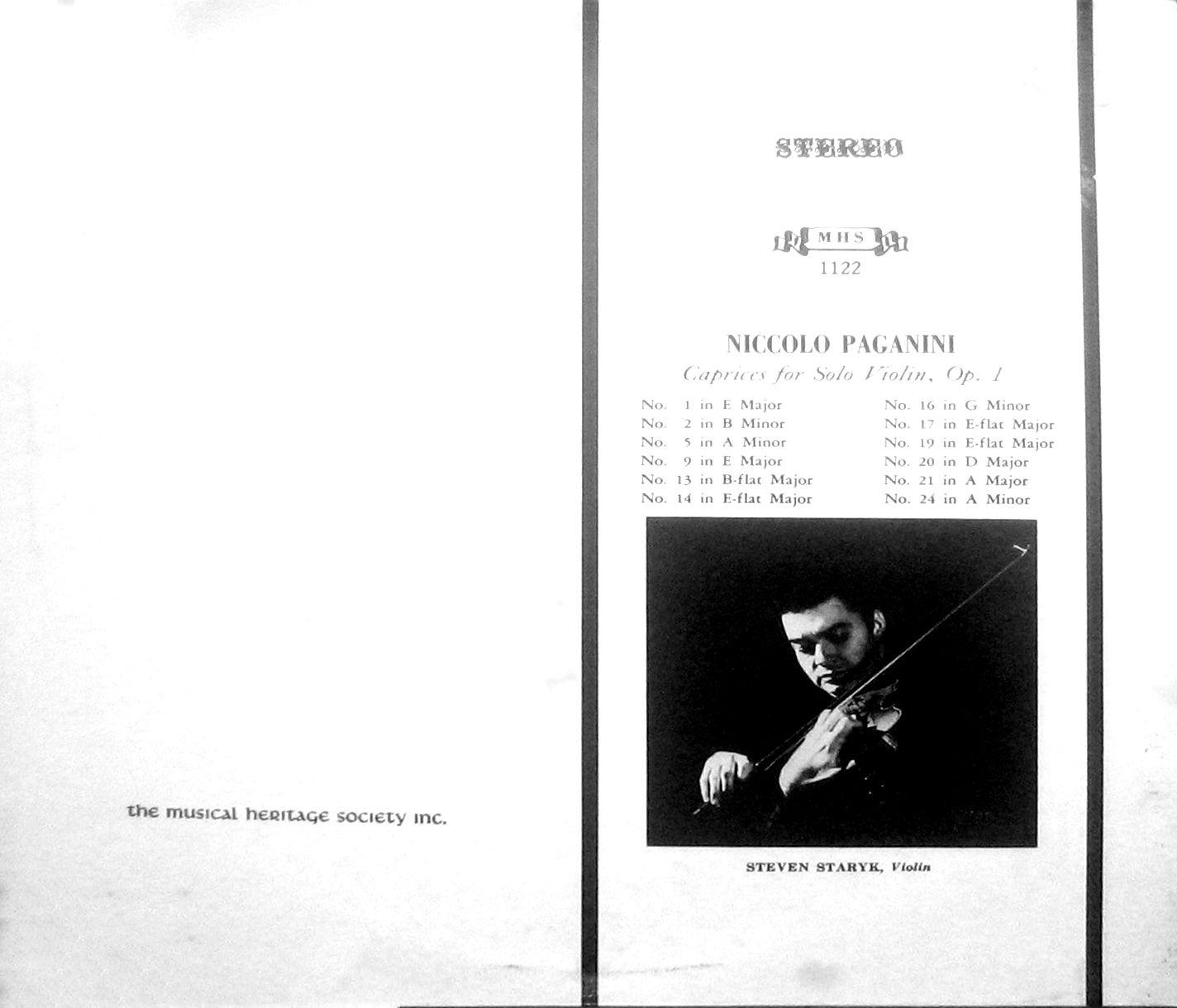 Niccolo Paganini - Caprices for Solo Violin, Op. 1