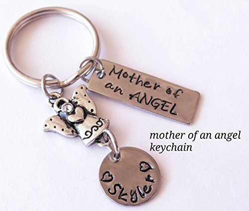 Mother Of and ANGEL Keychain infant loss memorial gift sympathy gift new baby Memorial Keychain custom memorial keychain