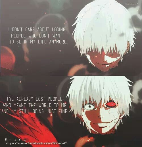 Tokyo Ghoul Quotes: Image Result For Sad Anime Quotes
