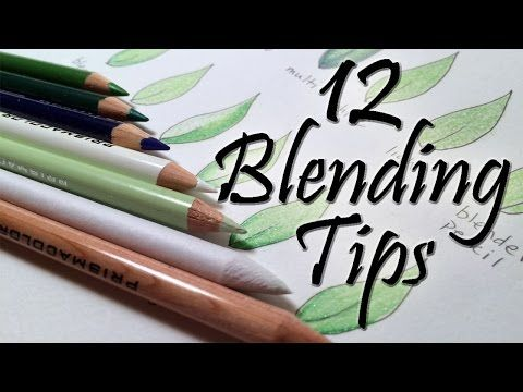Colored Pencil Tutorials For Adult Coloring Books Blending