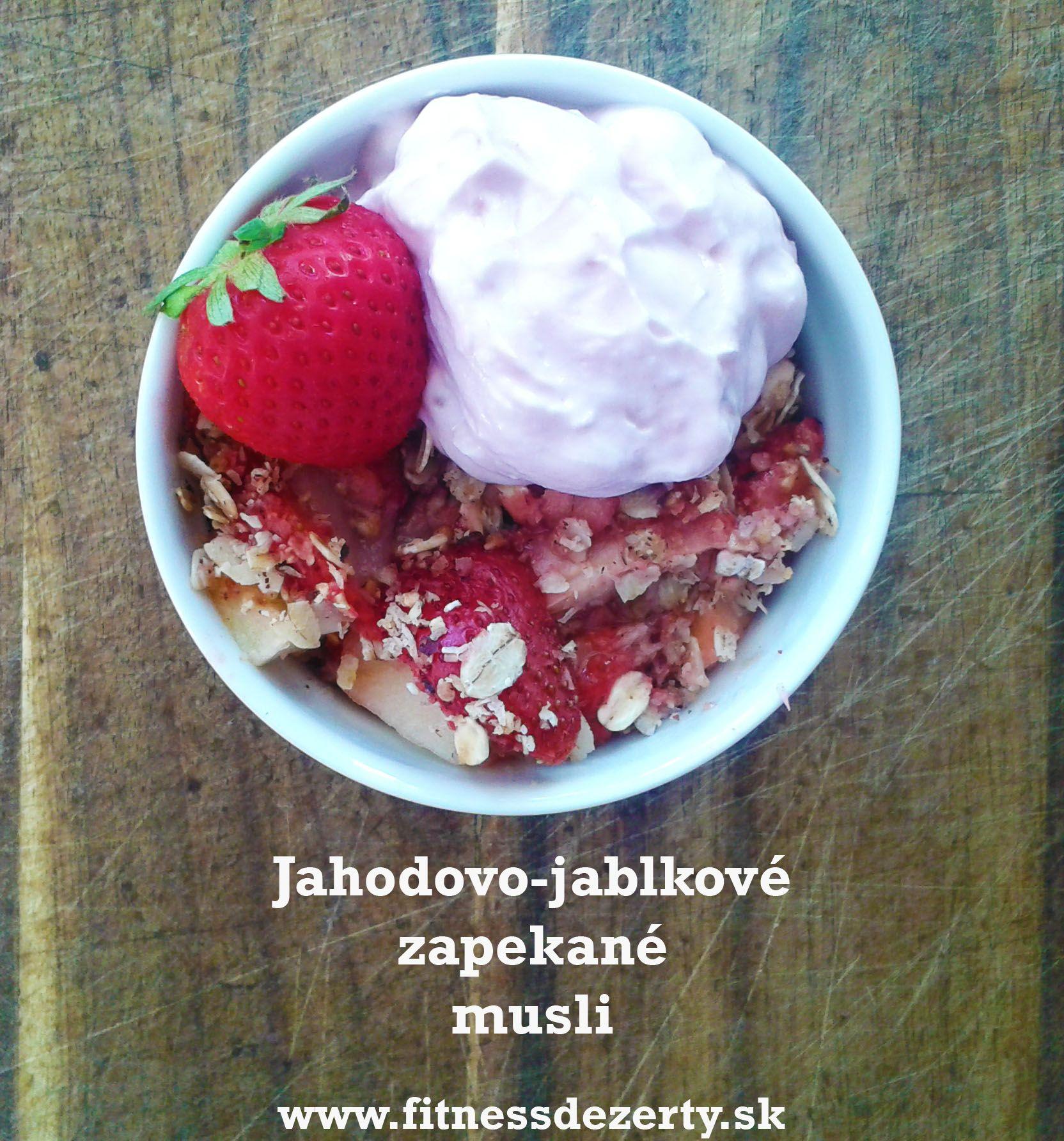 Vynikajúce zapečené ovocie s ovsenými vločkami - zdravé fitness raňajky, desiata, dezert, pre deti... recept na www.fitnessdezerty.sk