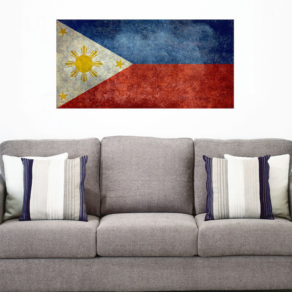 national flag of the philippines wall sticker decalbruce