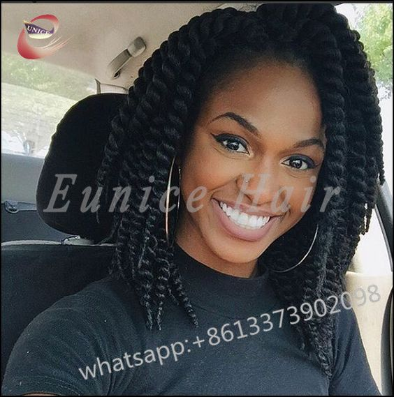African Jumbo Twist Crochet Black Senegalese Braids Short ...