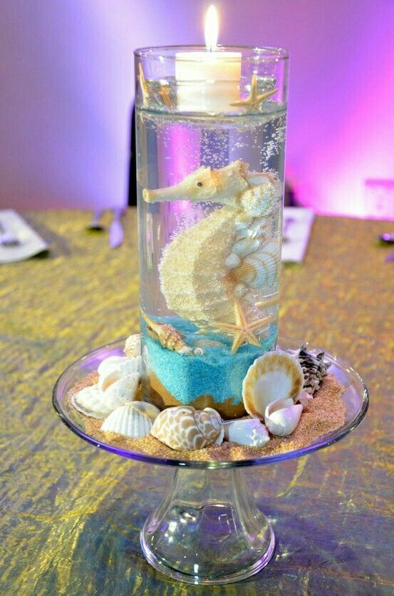 Centro de mesa del mar tema el mar y su belleza pinterest under the sea inspired centerpiece nice idea for a beach themed shower birthday or company holiday party junglespirit Gallery