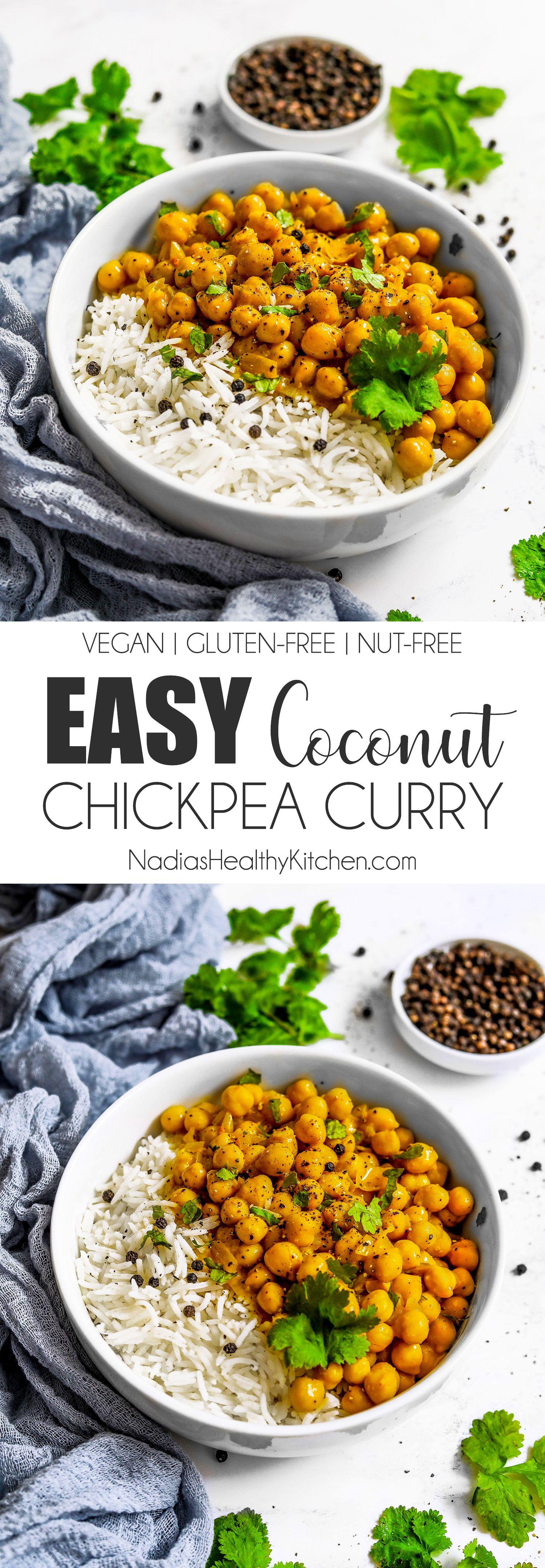 Photo of Easy Coconut Chickpea Curry – Gesundheitsblog in Großbritannien – Nadias gesunde Küche