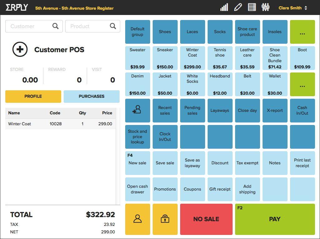 iPad POS system app view POS Pinterest Pos - free receipts online