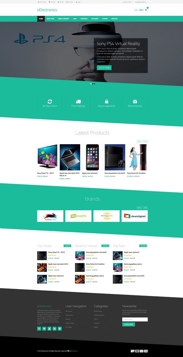 Best Free Responsive E-commerce Website Templates | Creative ...