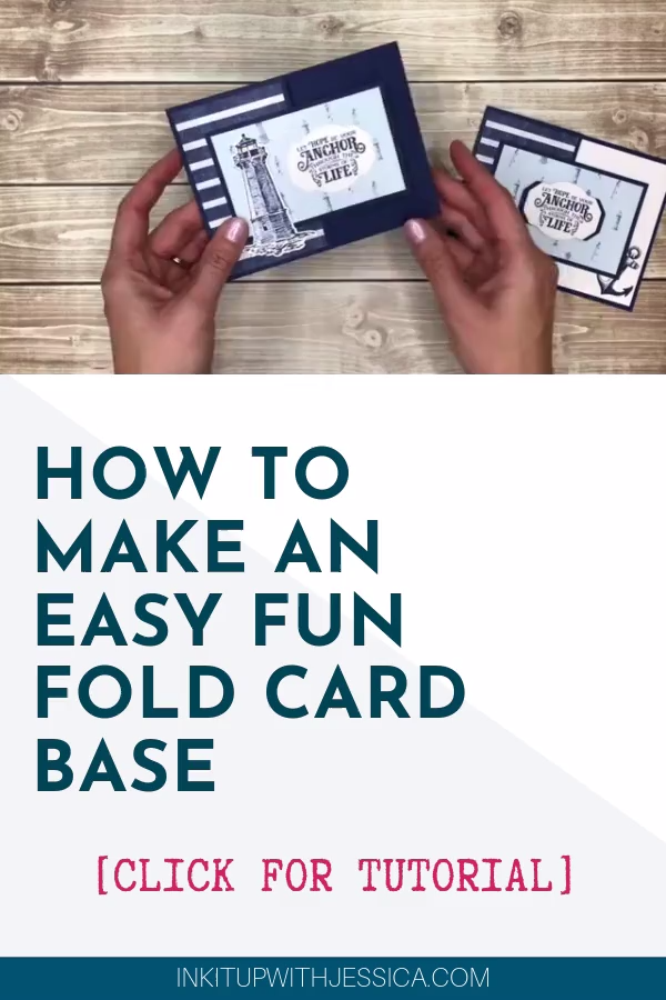 Want to make fun fold cards but think they are too complicated? This is the EASIEST Fun Fold Card Base EVER!!  Click for full video tutorial.  #tutorial#cardmaking#handmade