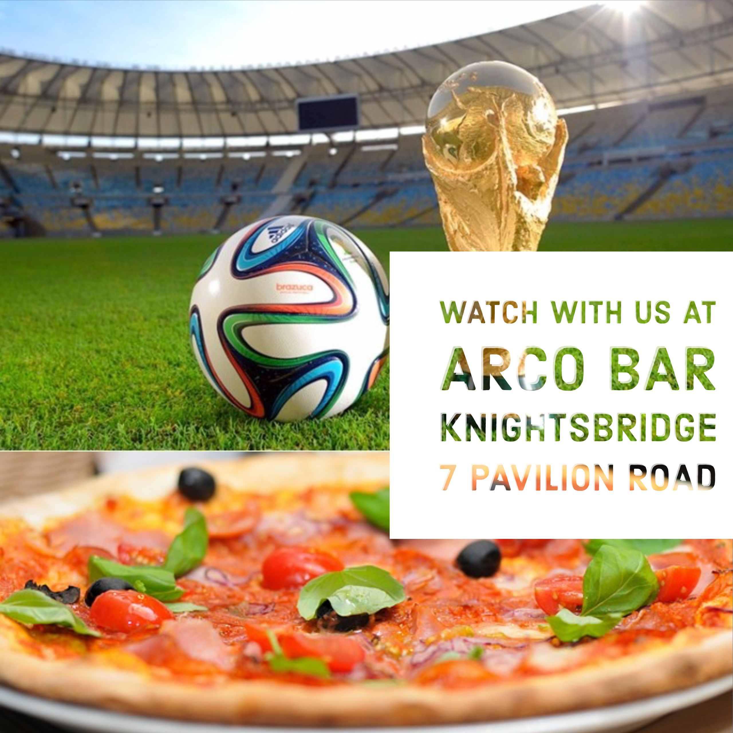 Watch FIFA WORLDCUP RUSSIA 2018 at Arco Knightsbridge with delicious ...