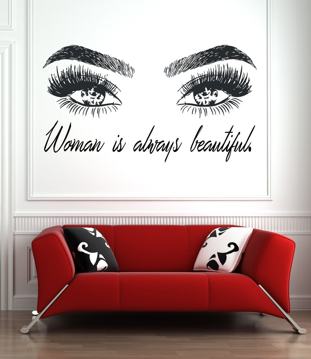 Eyelashes and Eyebrows Wall Decal Lashes and Brows Window