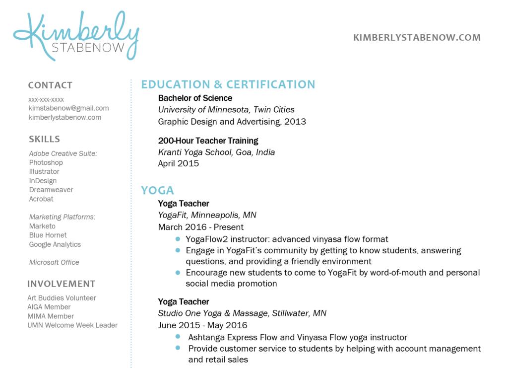 How to Create the Perfect Yoga Teacher Resume Teaching