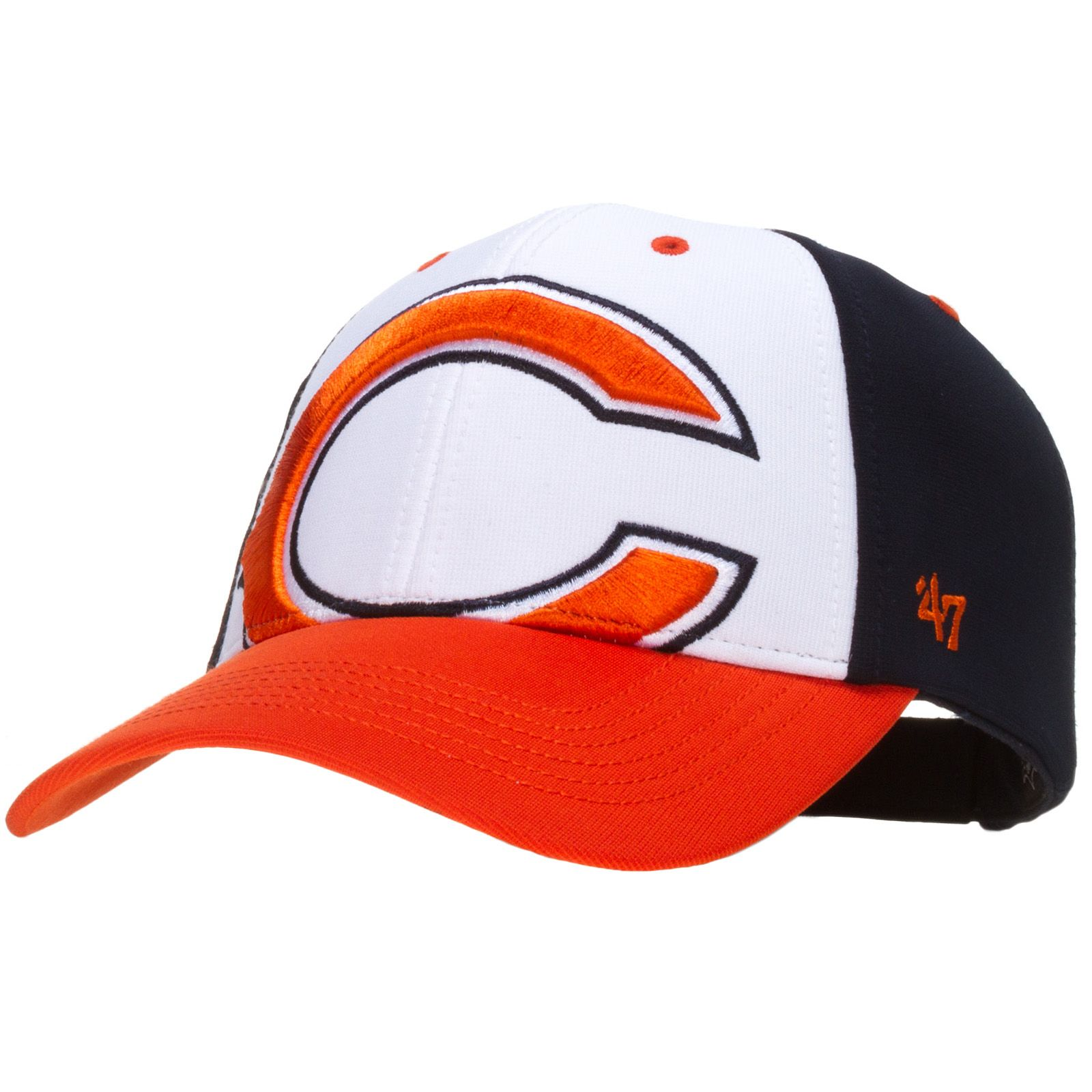 e1e653bf9 Chicago Bears Tri-Color Hat with Over-Sized