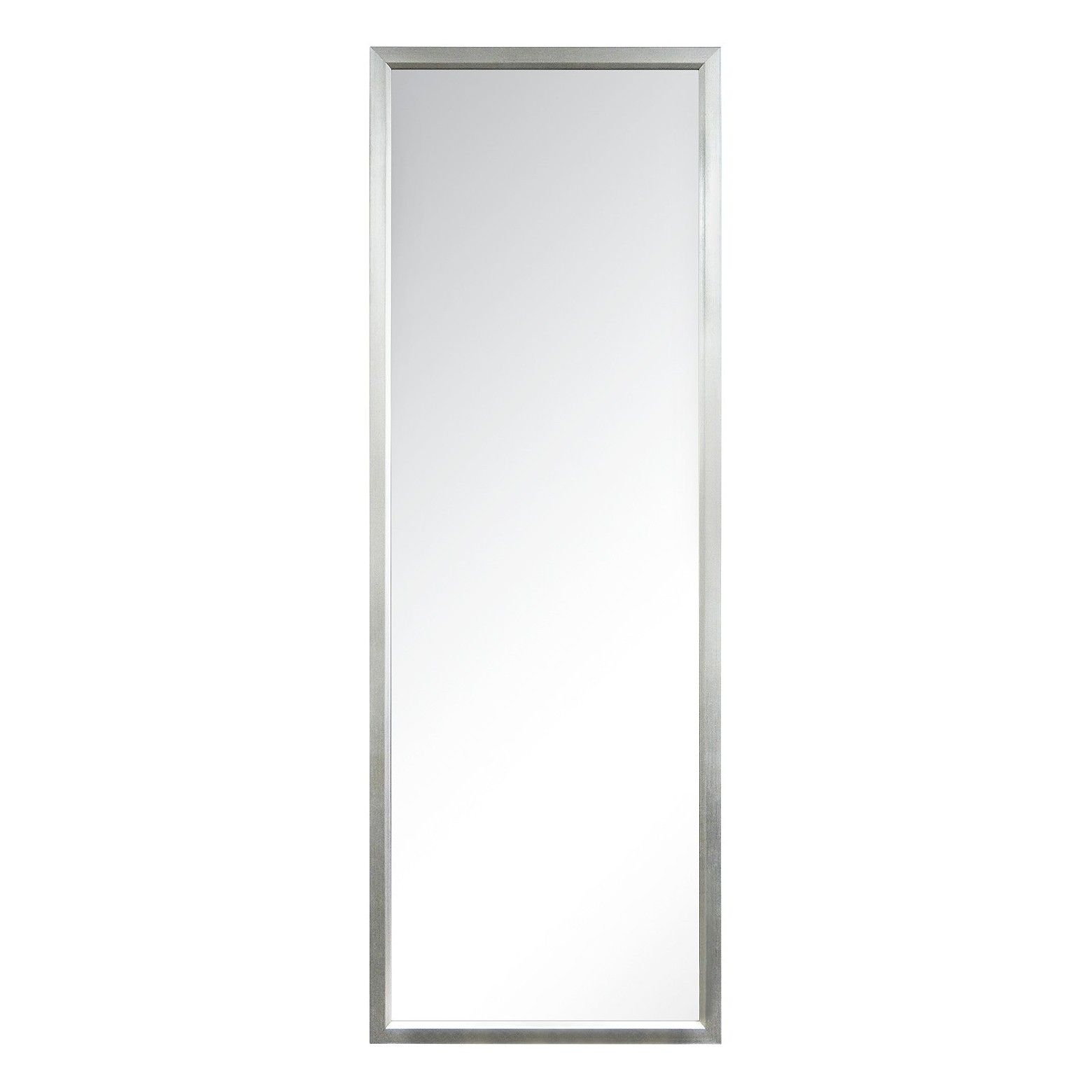 Rectangle Leaner Floor Mirror Silver Threshold Traditional Decor