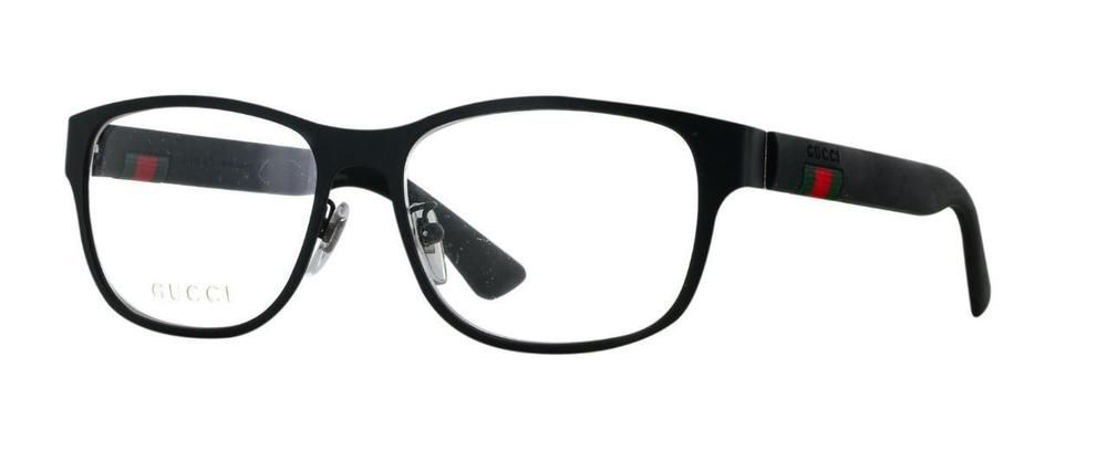 2bcb8fce700 New Gucci GG 0013O 001 Matte Black Brille Frames Glasses Eyeglasses Size 55