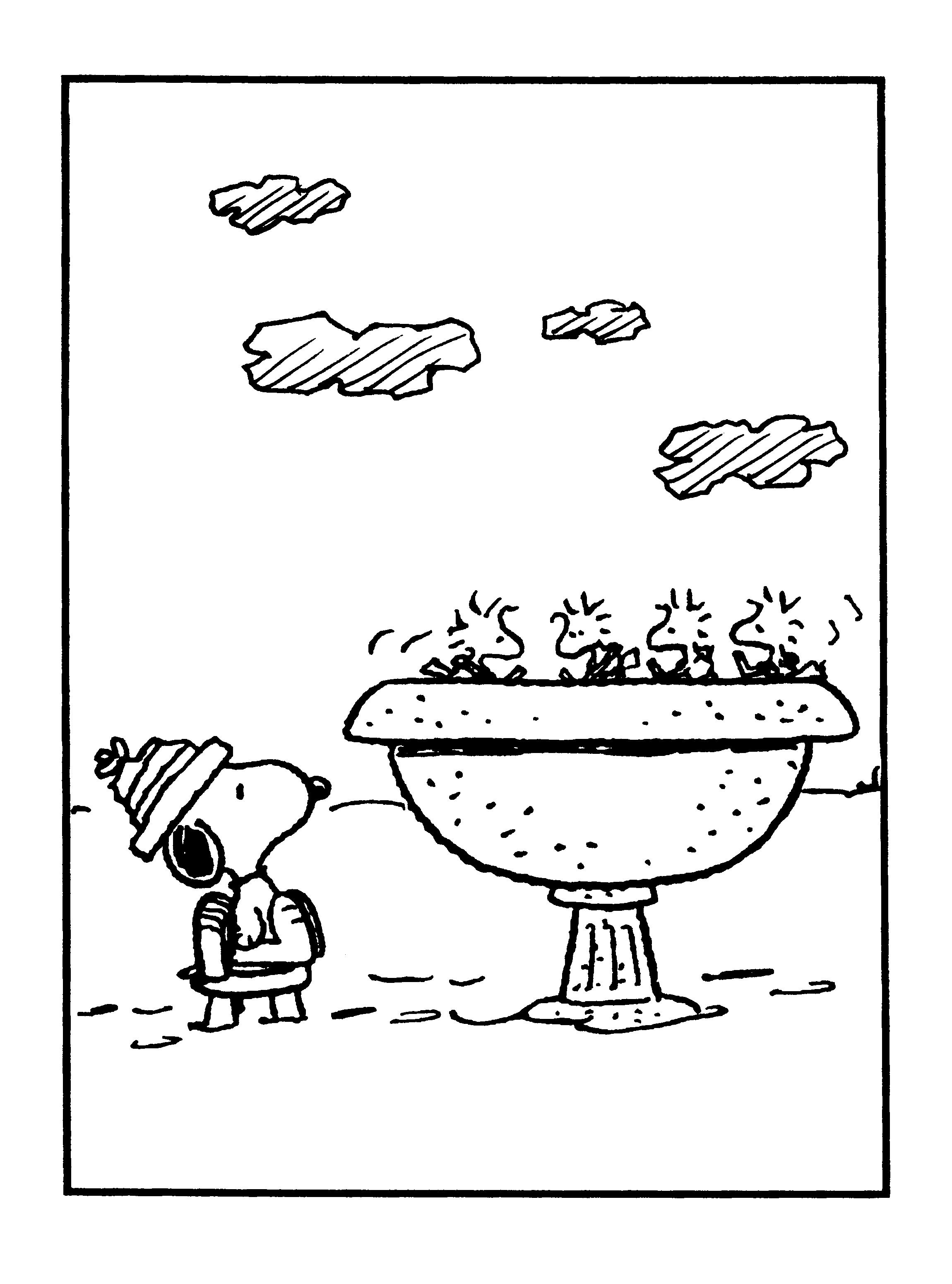 peanuts comics coloring pages - photo#47