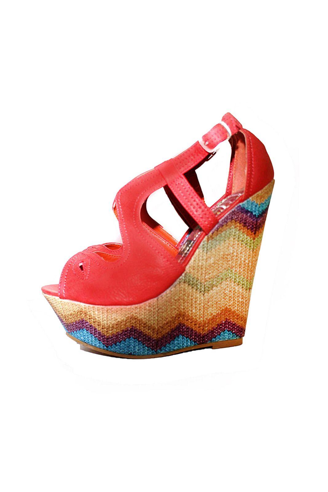 a83cc326c061 Zigzag Platform Wedge Sandals
