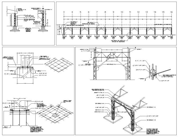 Cad blocks of steel structure design of steel frame for Roof drawing app
