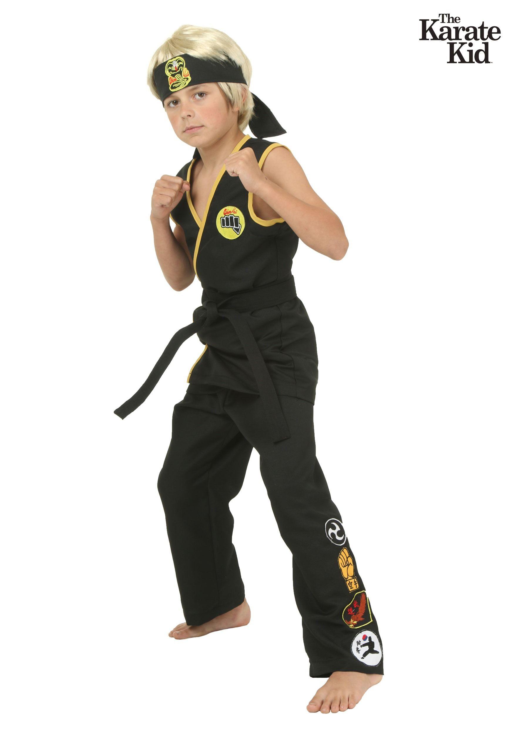 Child Cobra Kai Costume Karate kid costume, Karate kid