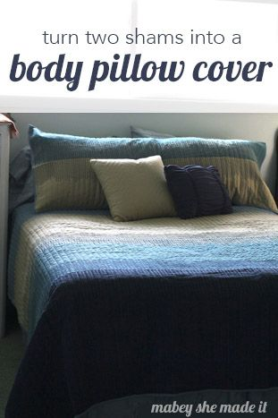 Pillow Shams To DIY Body Pillow Cover Pinterest Body Pillow Magnificent How To Make Body Pillow Cover