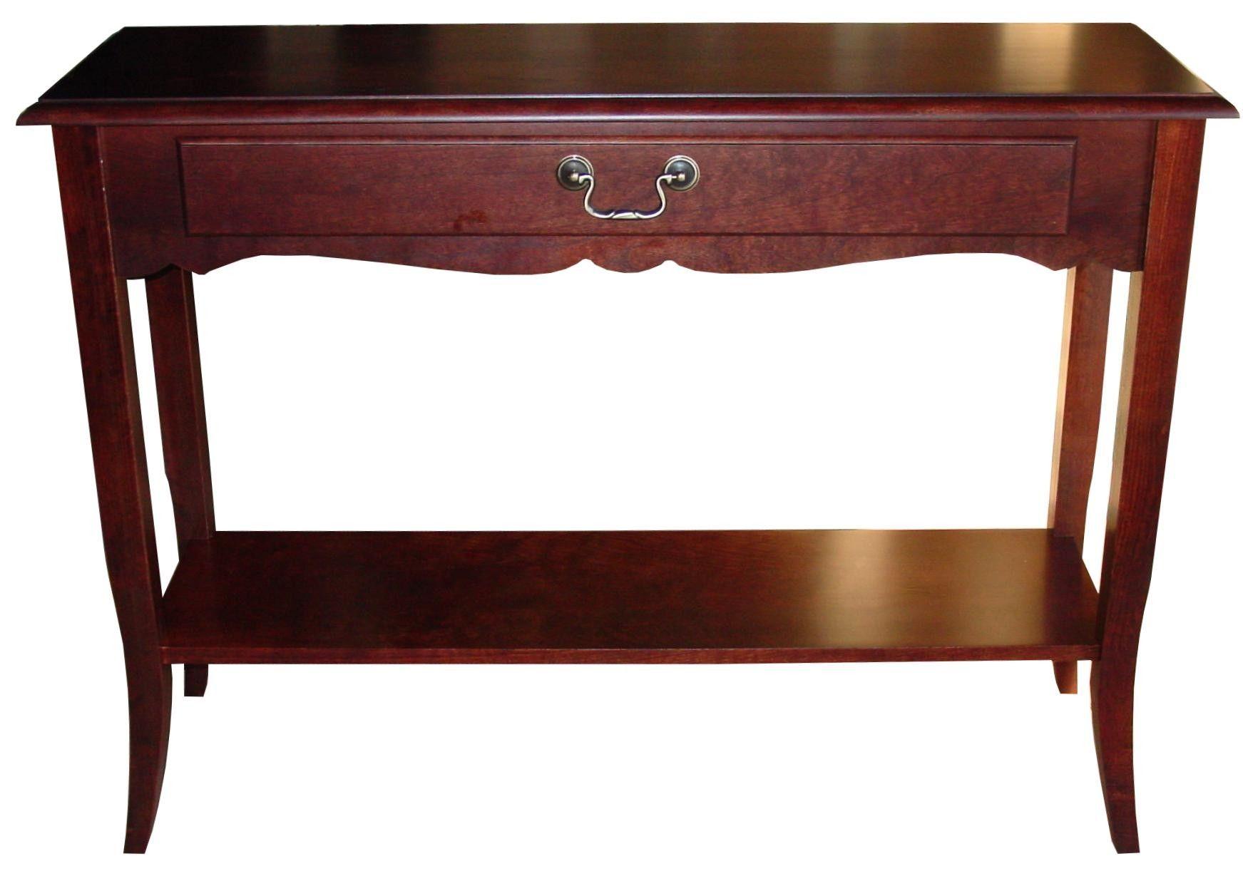 Cherry Wood Sofa Table Console Decor