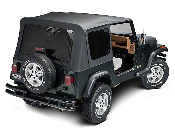 Barricade 87 95 Oem Replacement Wrangler Soft Top Black Diamond J40005 87 95 Wrangler Yj Free Shipping With Images Jeep Wrangler Soft Top Jeep Wrangler Yj Jeep