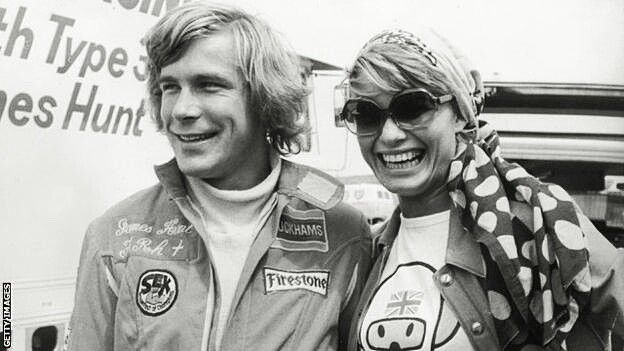 James Hunt With His First Wife The Model Suzy Miller After They
