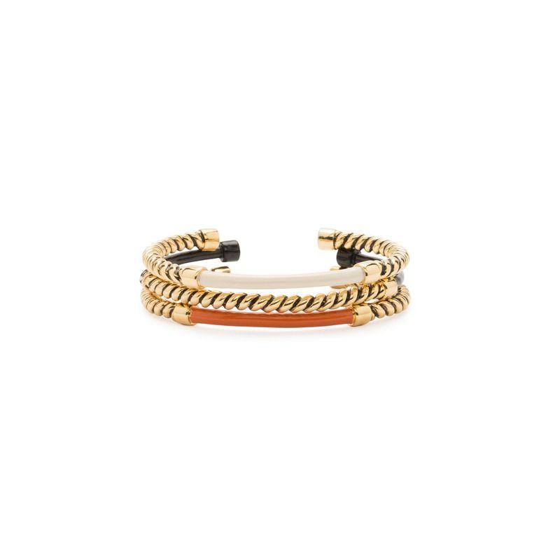 BIMBA Y LOLA Knot texture metal three bracelet set