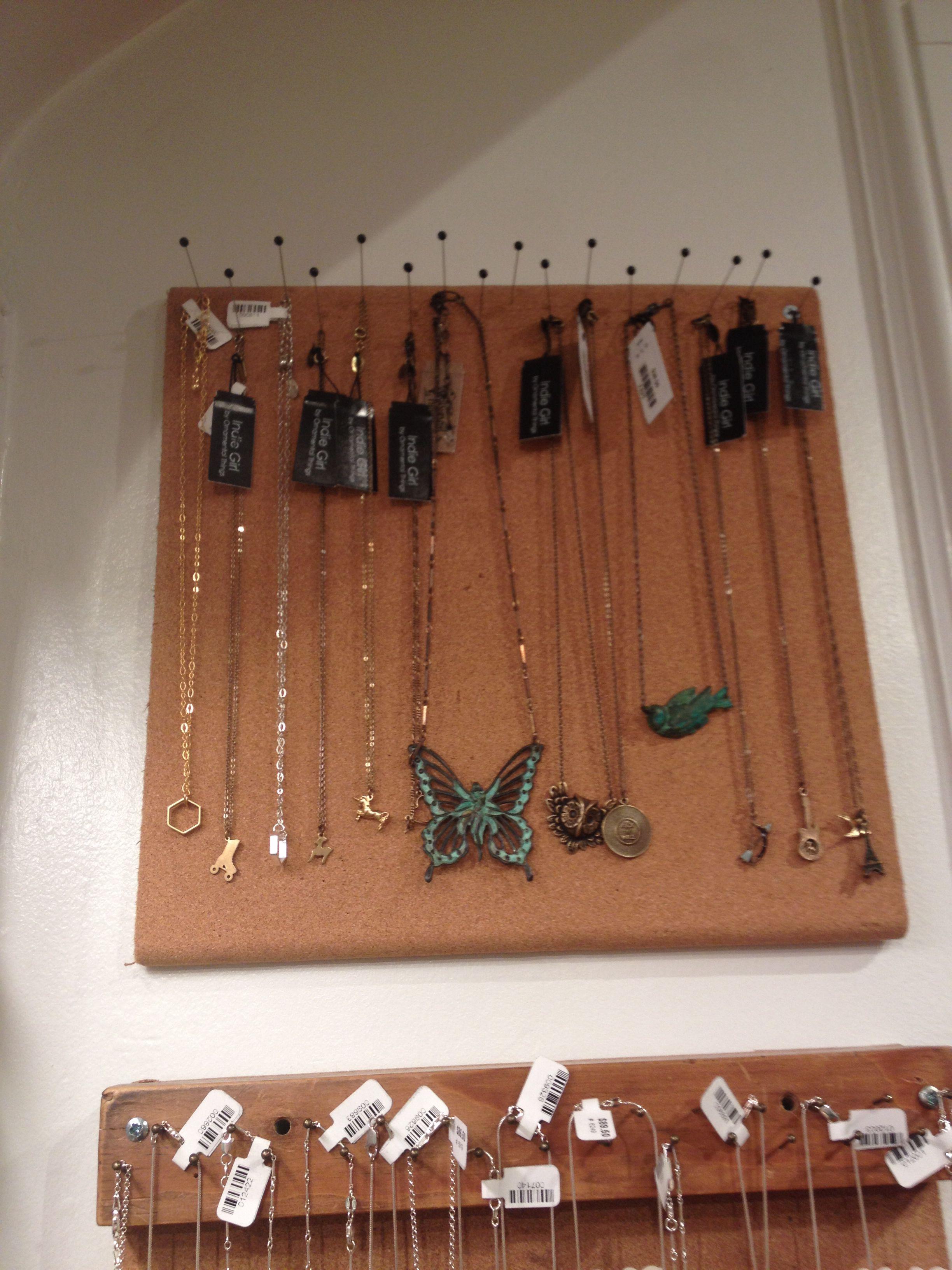 Cute, cheap way to hang, organize, display jewelry