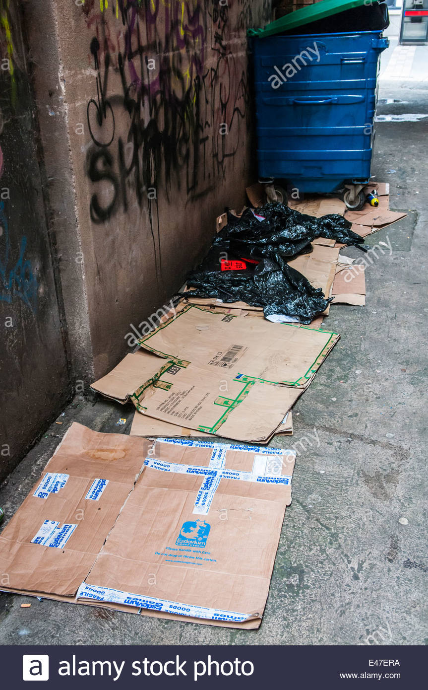 Cardboard Boxes On The Ground In An Stock Photos Cardboard Box Cardboard