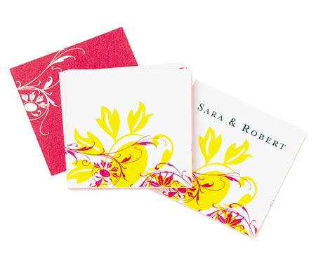 Yellow and Pink Floral Funk Favor Tags | Wedding Favor Tags