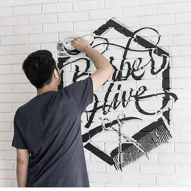 Wall work by @cosmas_adrian #designspiration #lettering #art #design #creative - View this Instagram https://www.instagram.com/Designspiration/