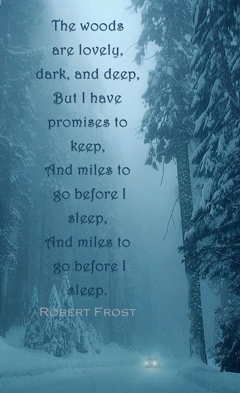 Robert Frost Stopping By Woods On A Snowy Evening The Woods Are