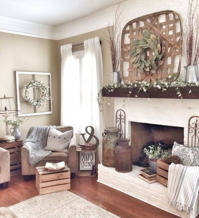 30 top farmhouse living room decor for winter page 10