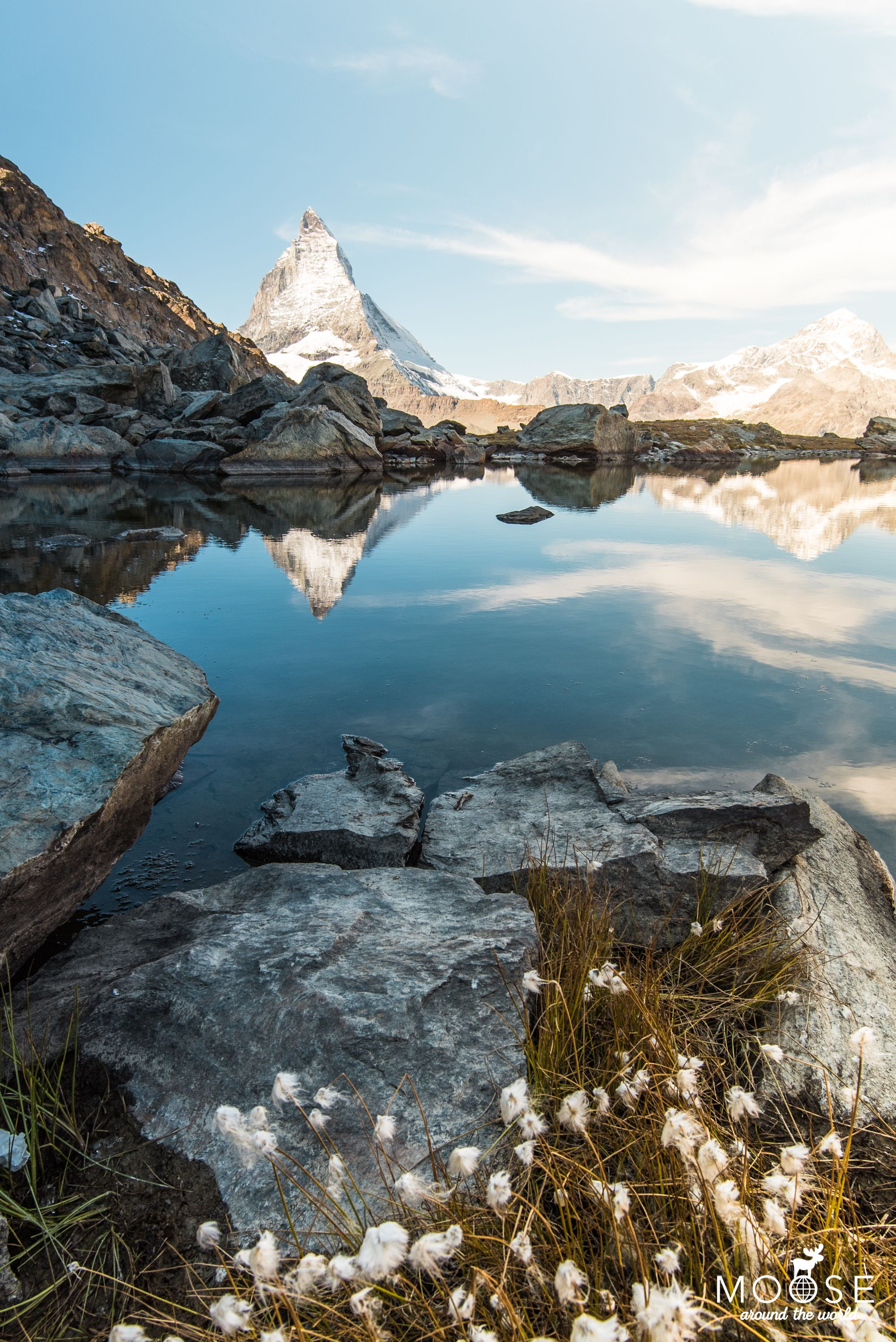 panoramablick aufs matterhorn wandern am gornergrat und riffelsee schweiz switzerland. Black Bedroom Furniture Sets. Home Design Ideas