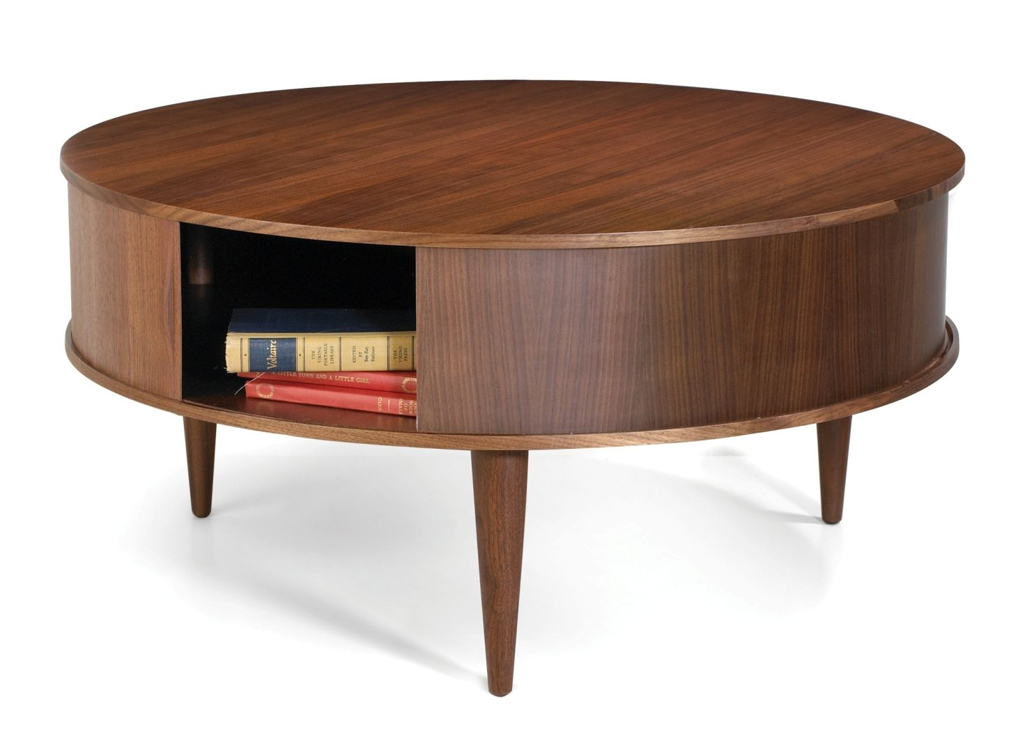 Large Round Coffee Table With Storage Round Wooden Coffee Table
