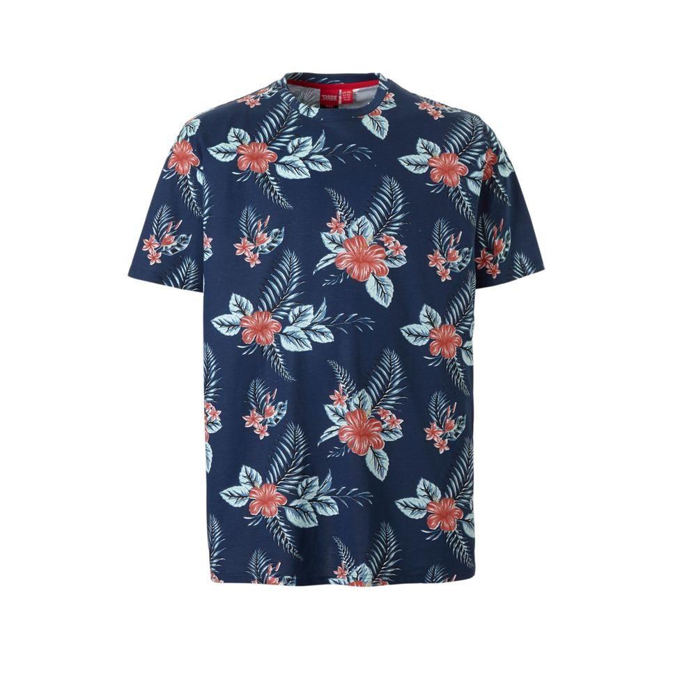 125a6eea038 D555 +size T-shirt, Marineblauw | Trend | BLOEMEN - Mens tops ...