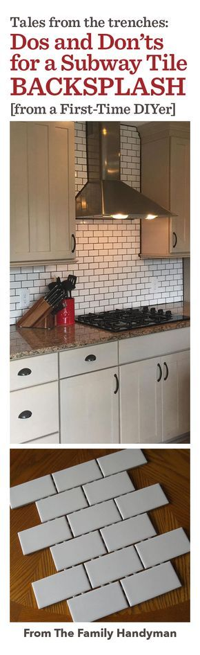 After receiving contractor bids to tile our kitchen backsplash that didn't fit our budget, my husband and I decided to tackle the project ourselves. With one weekend and a lot of hard work, we transformed a plain, white wall into a farmhouse-style tile backsplash. Though we are very happy with the results, this project came with almost immediate lessons learned, and there are definitely some things we would do differently.