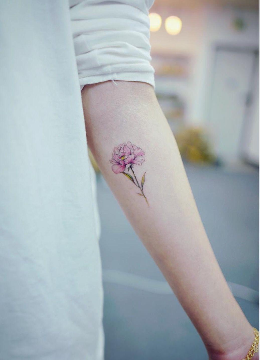 Pink Peony Tattoo Tattooist Banul Pink Peony Tattoo Carnation Flower Tattoo Tattoos