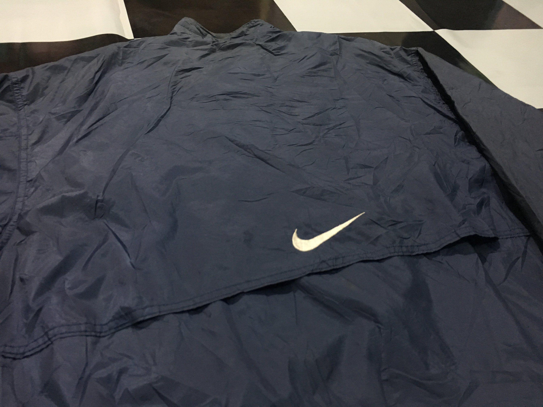 newest collection d3f39 e0efd Vintage Nike jacket windbreaker Nike swoosh logo embroidered Size L by  AlivevintageShop on Etsy