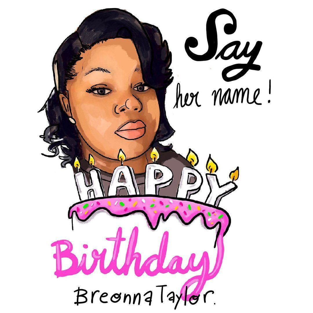 Today June 5 Breonna Taylor Would Have Turned 27 You Can Help Demand Justice For Her By Sending Birthday Cards To Th In 2020 Taylor Name Birthday Cards Say Her Name