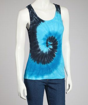 Channel that free-spirited sense of style with this ribbed cotton tank. Drenched in color with a spiraling tie-dye design, it's sure to bring endless fun under the sun!