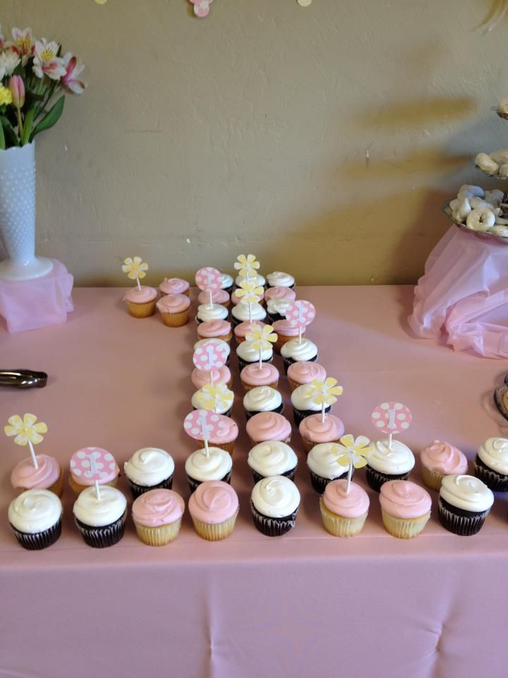 Dont Have Anything To Arrange Cupcakes For A Birthday How About Arranging Them In The Shape Of Age Being Celebrated