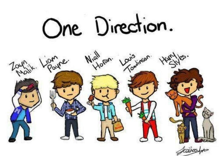 Zayn combing his hair liam holding a fork he hates spoons niall one direction drawings i love niall voltagebd Choice Image