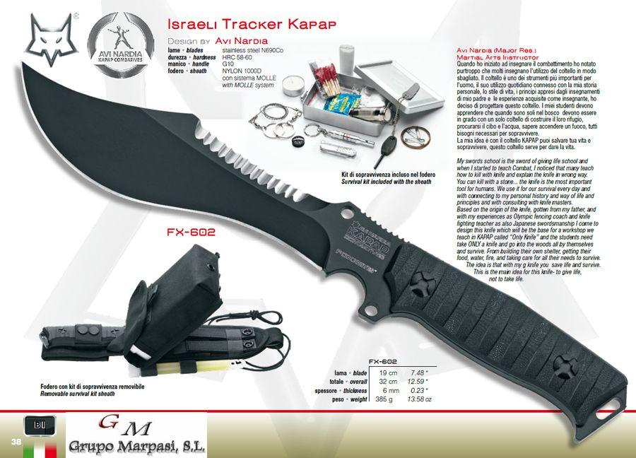 Cuchillos Tacticos Y Caza Militares Israeli Tracker Kapap Cuchillo Fox Military Cuchilleria Cuchilleria Albacete Cuchillos De Combate Cuchillos Tacticos