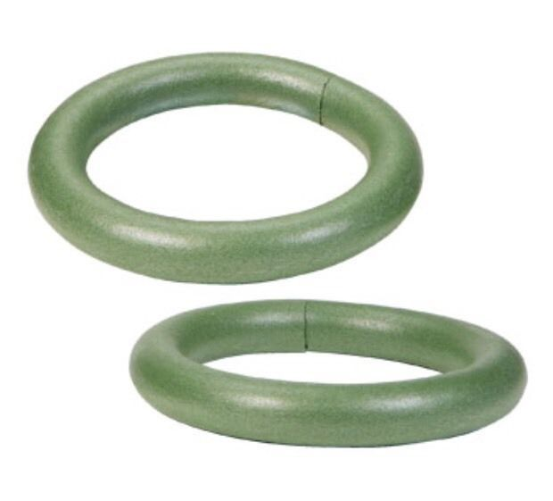 10 Green Styrofoam Extruded Wreath Form Gr8t For Holiday Decor Centerpieces 737017000883 Ebay Floral Foam Wreath Wreath Forms Silk Flower Centerpieces