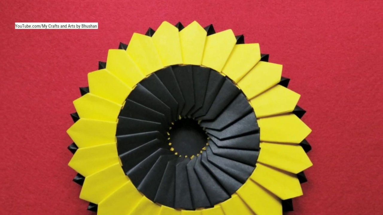 How To Make An Origami Sunflower Origami For Kids And Beginners Paper Sunflowers Origami For Beginners Origami