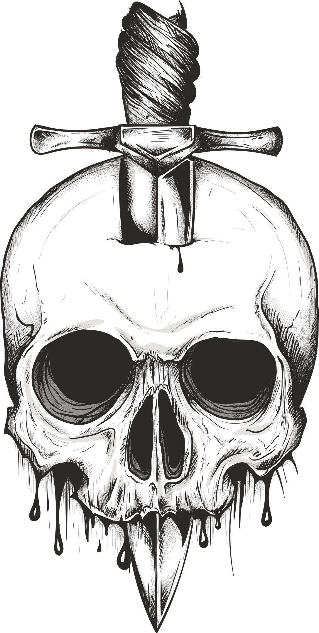 Skull Sword Svg Vector Digital Clipart T Shirt Design