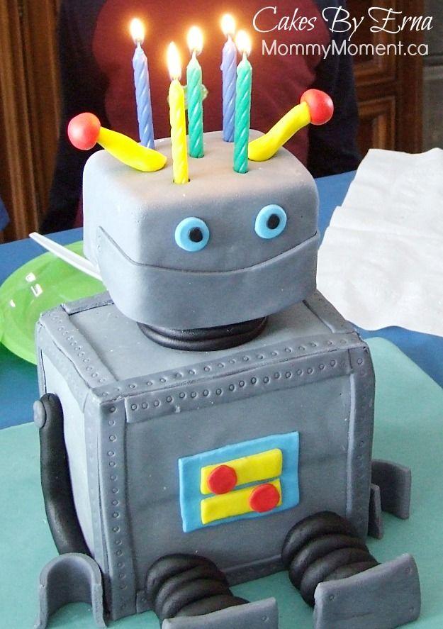 Brilliant Robot Birthday Cake Robot Cake Cakes For Boys Birthday Personalised Birthday Cards Epsylily Jamesorg